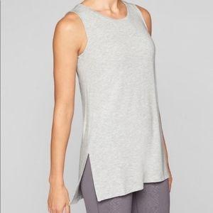 Athleta Grey Threadlight Layering Tank Top